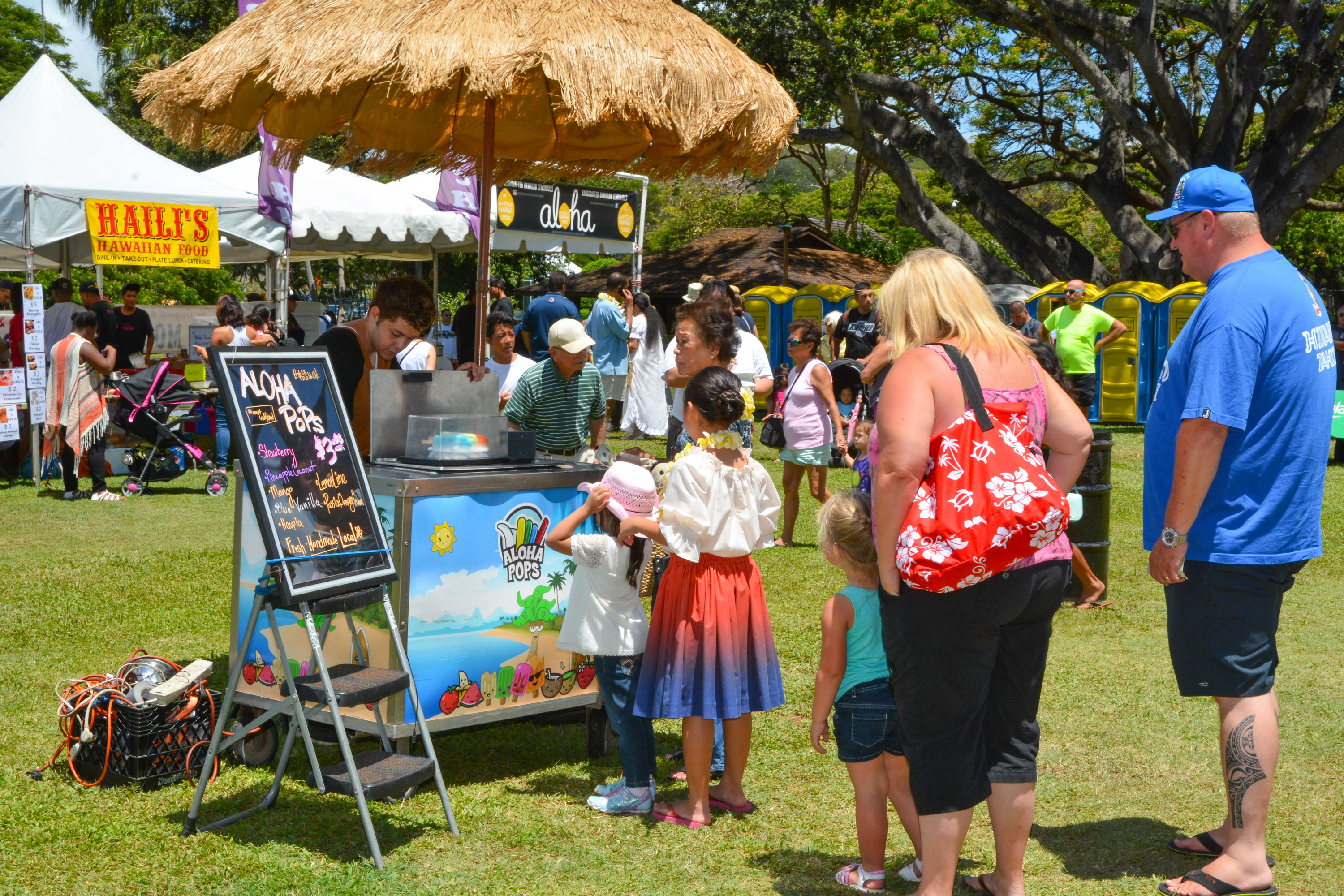 Guests line-up for refreshing frozen treats from Al