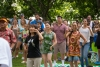 DSC_6884 Audience members dance under Kumu Hula Charlani Ka