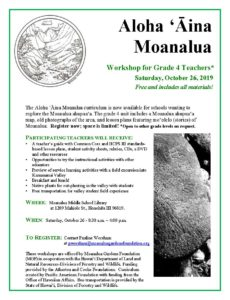 Aloha 'Aina Moanalua Workshop @ Moanalua Middle School Library | Honolulu | Hawaii | United States